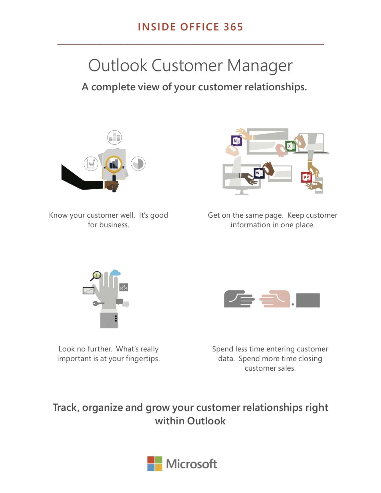 Outlook Customer Manager - A complete view of your customer relationships