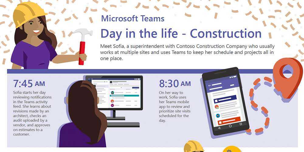 A Day in the Life of a Construction Pro with Microsoft Teams